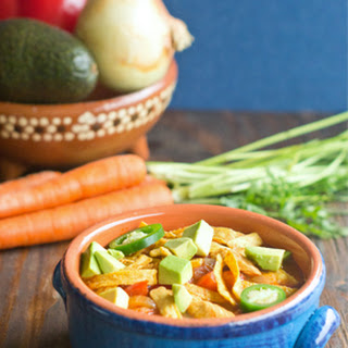 One-Pot Healthy Chicken Tortilla Soup