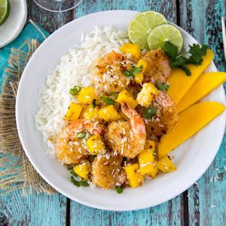 Baked Coconut Shrimp + Mango Rice Pilaf