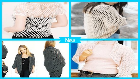 Beauty Crochet Shrug Patterns - náhled
