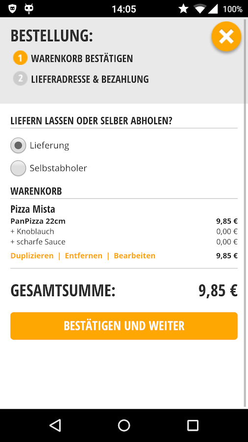 TelePizza - Die Genussbringer!- screenshot