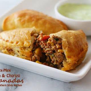 Tex-Mex Chicken And Chorizo Empanadas.
