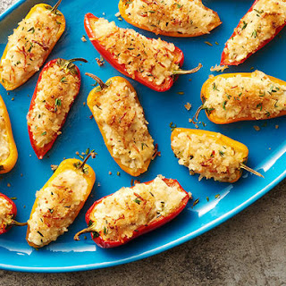 Goat Cheese-Stuffed Sweet Pepper Poppers