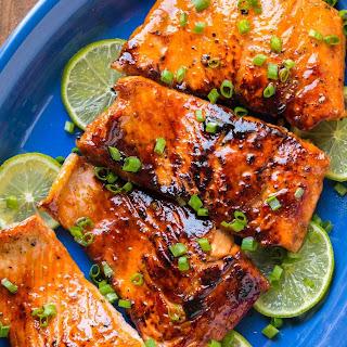 Honey Glazed Salmon.