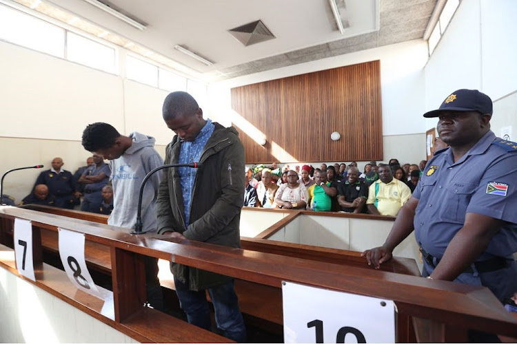 Andile Zulu and Mfanafuthi Zulu appear in the Umlazi Magistrates court for the alleged murder of ANCYL representative Bongani Mkhize on the weekend.