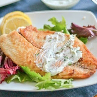 Baked Fish In Yoghurt With Herbs.