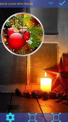 Christmas Clock Live Wallpaper screenshots 2