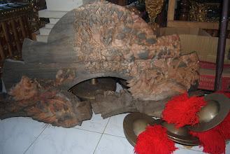 Photo: scultura in legno in lavorazione da Dewa