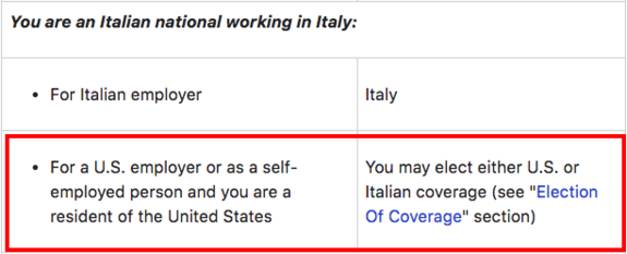 Self Employment Tax Requirements For Italian Expats