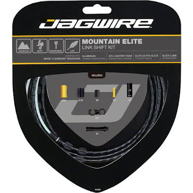 Jagwire Mountain Elite Link Shift Cable Kit with Ultra-Slick Uncoated Cables