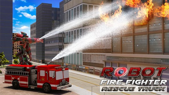 Robot Fire Fighter Rescue Truck 1