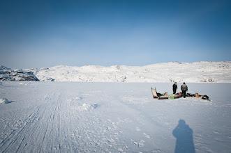 Photo: pit stop on the Icefjord (Kangia)