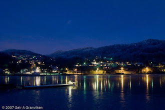 Photo: Winter evening in Hyggen, by the Drammens fjord