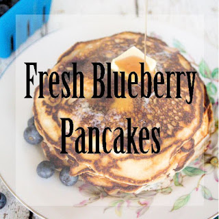 Fresh Blueberry Pancakes.