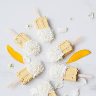 Mango Coconut Milk Popsicles.