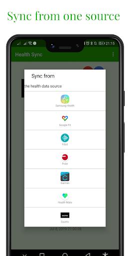 Capturas de pantalla de Health Sync 1