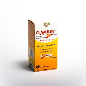 Clavulin ES 600Mg   Sus.Oral Frasco x100Ml. GSK Amoxicilina Clavulánico