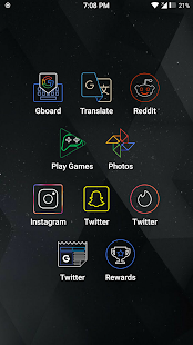 Amoled Lines Icon Pack Screenshot