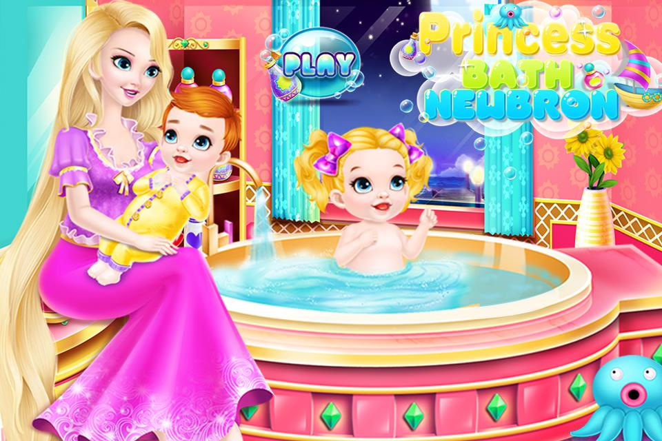 Newborn Bath - Princess Nurse- screenshot