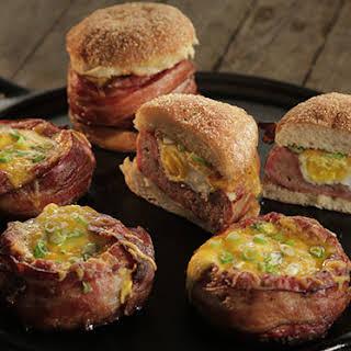 Beer-Can Breakfast Burgers.