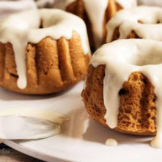 Mini Pumpkin Spice Bundt Cakes.