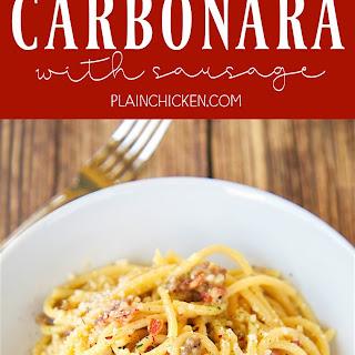 Buddy V'S Carbonara with Sausage Recipe