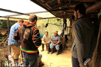 Photo: An interview in the mountains with the FCT crew.