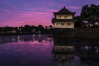 Photo: Sunset Fit For A King  This was the sunset tonight in Tokyo. I was out with my daughter taking photos, not really expecting to get anything good, just happy to spend time with her. Then we were greeted with this insanely beautiful sunset. We happened to be next to the Emperor's palace, so we headed and over and shot from the moat. A very nice experience. :)  Blog post: http://lestaylorphoto.com/emperors-palace-at-sunset/  #japan #travel #sunset #nikond610  #cooljapan