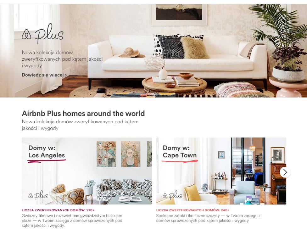 zmiany w Airbnb Plus