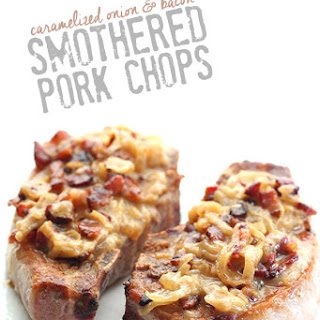 Caramelized Onion & Bacon Smothered Pork Chops