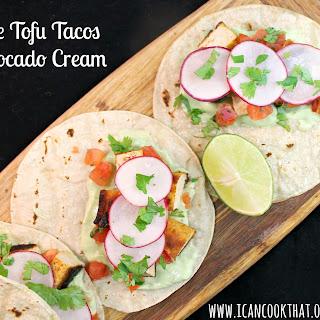 Chipotle Tofu Tacos with Avocado Cream
