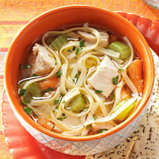 Hearty Homemade Chicken Noodle Soup.