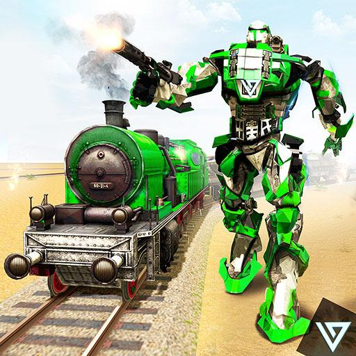 Futuristic Train Transformation Robot Wars