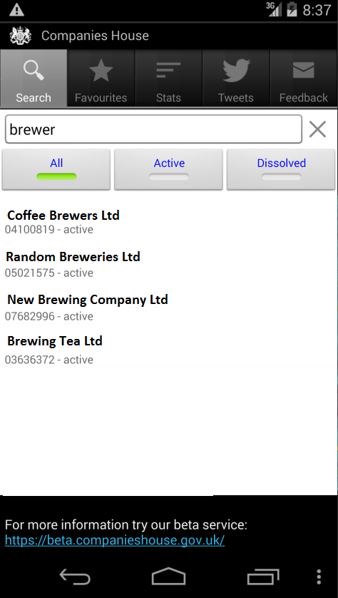 Companies House- screenshot