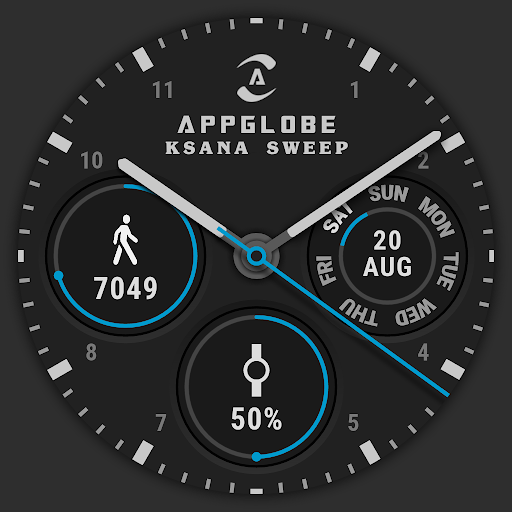 Screenshot for ⌚ Watch Face - Ksana Sweep for Android Wear OS in Hong Kong Play Store