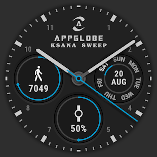 🕐 Watch Face - Ksana Sweep for Android Wear OS Screenshot