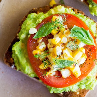 Summer Avocado Toast with Grilled Corn