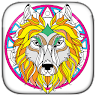 download Wolf and Lion - Adult Coloring Book apk