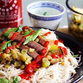 Chinese Eggplant and Lentil Stir Fry - US.
