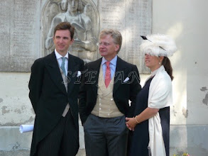Photo: Hereditary Prince Heinrich zu Sayn-Wittgenstein-Sayn,  Count  Vittoria Mazetti d'Albertis and Hereditary Princess Priscilla zu Sayn-Wittgenstein-Sayn