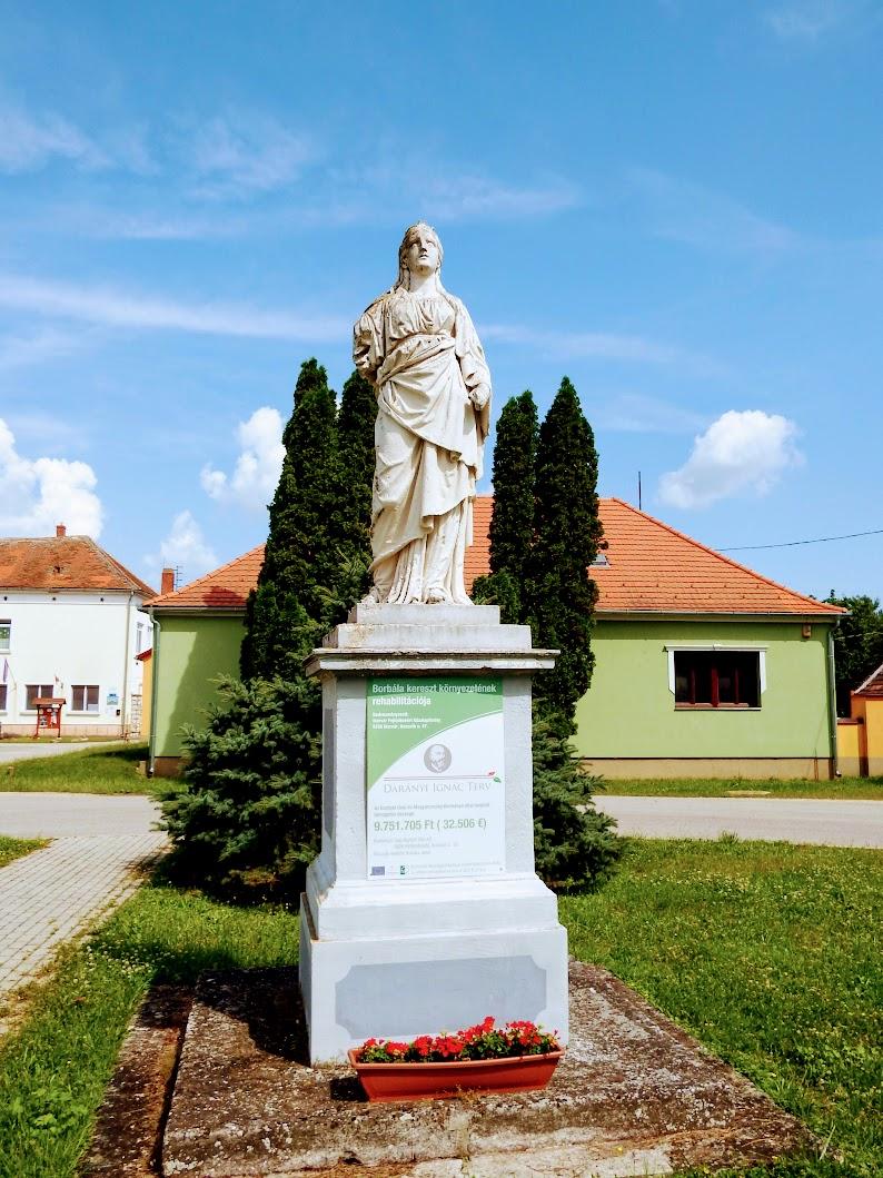Ikervár - Szent Borbála-szobor