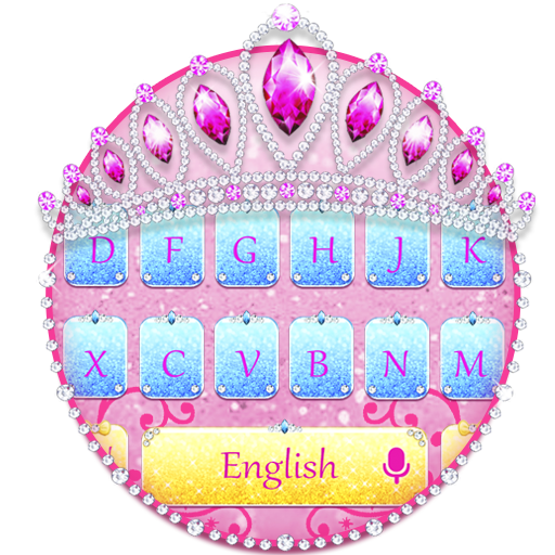 Glitter Princess Keyboard