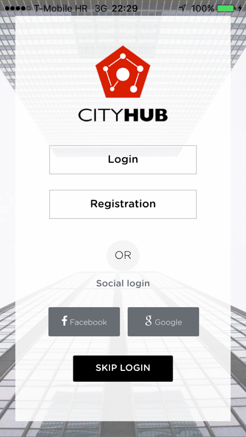 CityHub- screenshot