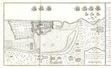 Photo: Map of Madras 1746