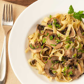Truffled Fettuccine with Mushrooms Recipe