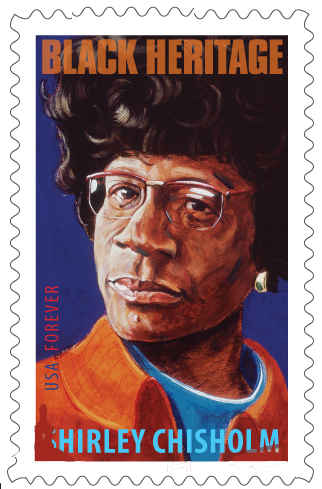 Shirley Chisholm Stamp by Robert Shetterly