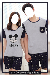 Couple Nightwear Photo Suit - náhled