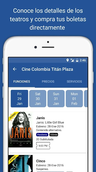 #5. Cine Colombia S.A. (Android)