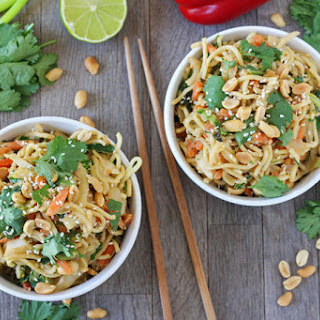 Satay Vegetable Noodles | Easy 5 Minute Meal Recipe