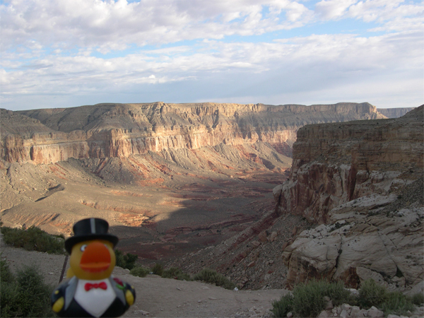 Photo: we will go along that canyon in the back