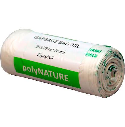 Soppåse Polynature 30l vit 25/